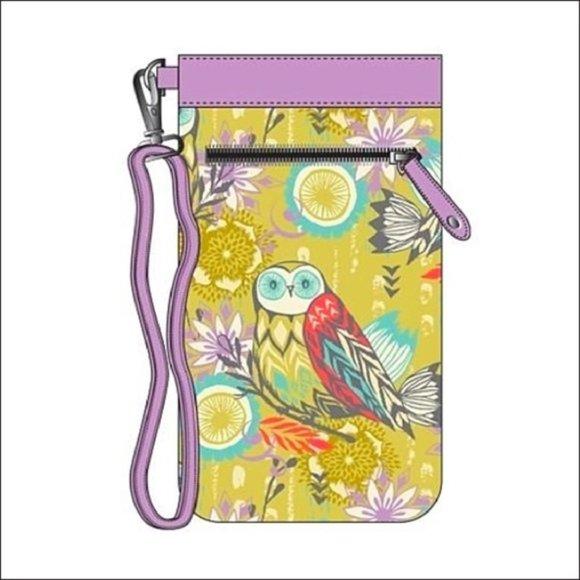 Sarah Watts Handbags - Eyeglass Or Phone Wristlet. NWT. Owl Design.